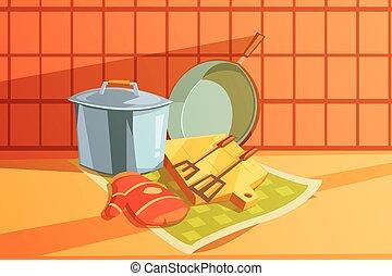 Kitchen Utensils Illustration