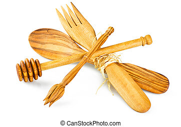 Olive Wood Kitchen Utensils A Collection Of Olive Wood