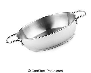 kitchen utensils - isolated on white background, focus point...