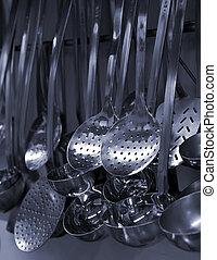 Kitchen utensils - kitchen utensils closeup