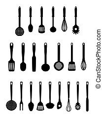 kitchen utensils, vector