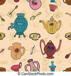 kitchen vector pattern