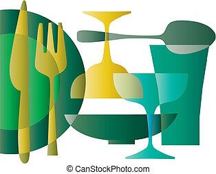 kitchen wallpaper pattern - 1