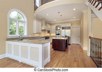 Kitchen with balcony