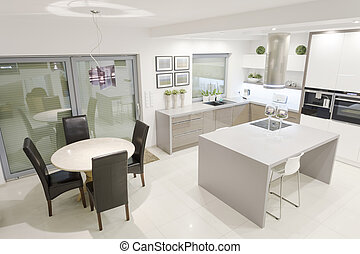 Kitchen with dining space
