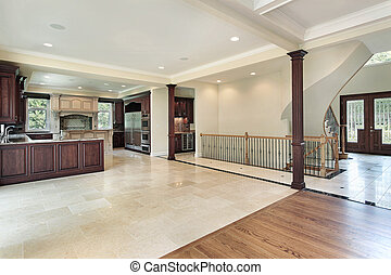 Kitchen with foyer view