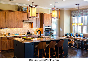 Kitchen with Granite and Modern Fixtures