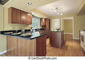 Kitchen with granite counters - Kitchen in remodeled home...