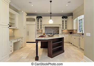 Kitchen with light cabinetry