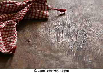 kitchen wooden background with napkin