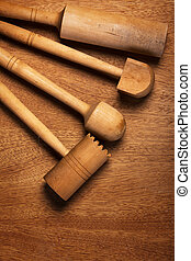 Kitchen. Wooden utensil