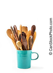 Kitchen wooden utensils