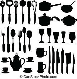 kitchenware elements - vector