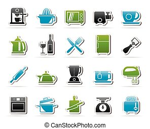 Kitchenware equipment icons