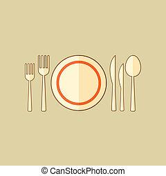 Kitchenware. Food Flat Icon
