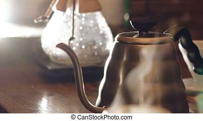 Kitchenware for making traditional coffee. Full HD