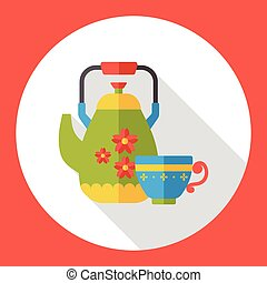 kitchenware kettle flat icon