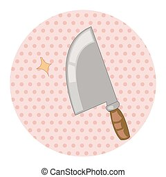 kitchenware knife theme elements vector, eps