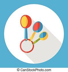 kitchenware spoon flat icon