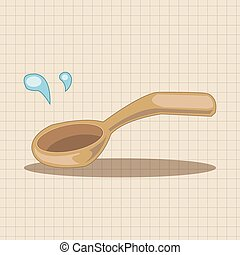 kitchenware spoon theme elements vector, eps