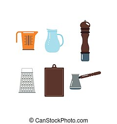 Kitchenware vector icons.