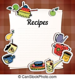 Sheets for recording recipes