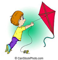 Kite Boy - Don\'t lose that kite!