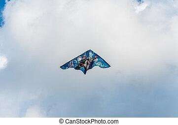 Kite flying in the sky