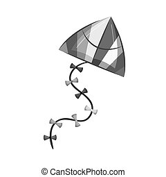 kite flying toy isolated icon