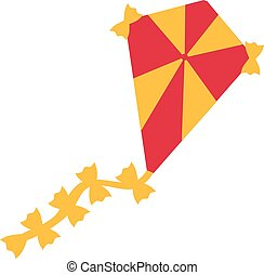 Kite icon yellow and red