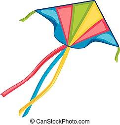 Kite isolated on white