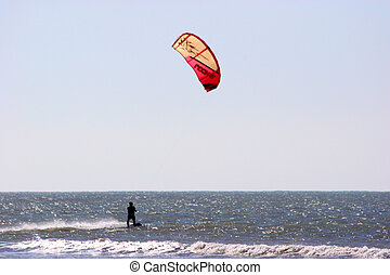Kite Surfing - kite surfing, Essaouira, Morocco
