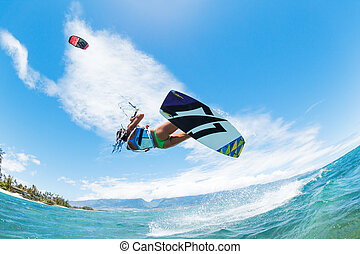 Kite Surfing - Kite Boarding, Fun in the ocean, Extreme...
