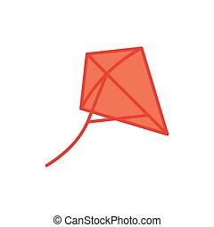 Kite vector icon symbol isolated on white background