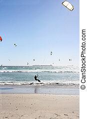 kiteboarding, 浜