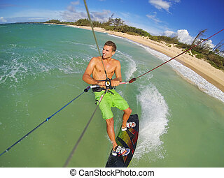 Kiteboarding - Kiteboarding, Fun in the Ocean, Extreme...