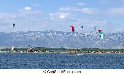 Kiteboarding Kitesurfing full HD video - Kiteboarding...