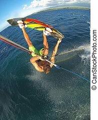 Kiteboarding POV Action Camera - Kiteboarding, Fun in the ...