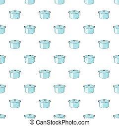 Kitechen pot pattern, cartoon style