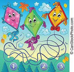 Kites theme image 4 - eps10 vector illustration.