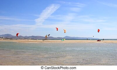 Kitesurfer in action on Fuerteventura
