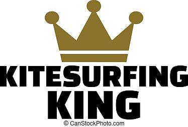 Kitesurfing king with crown