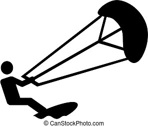 Kitesurfing pictogram