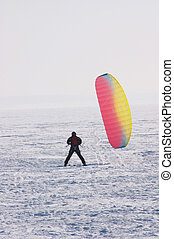 Kiting - Warming-up before race