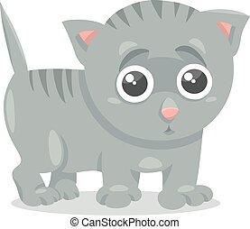 kitten character cartoon illustration