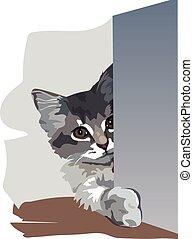 Kitten is in an ambush