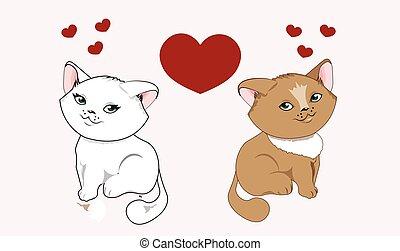 kittens in love