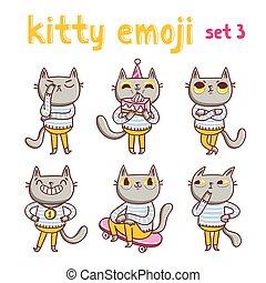 Kitty emoji set