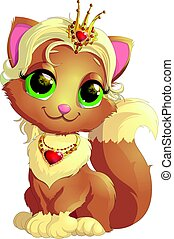 Kitty princess with decorations