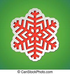 kivág, hópehely, karácsony